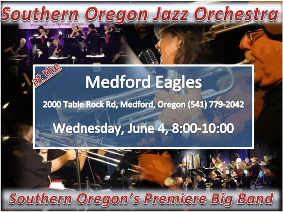 SOJO at the Medford Eagles, June 4th!